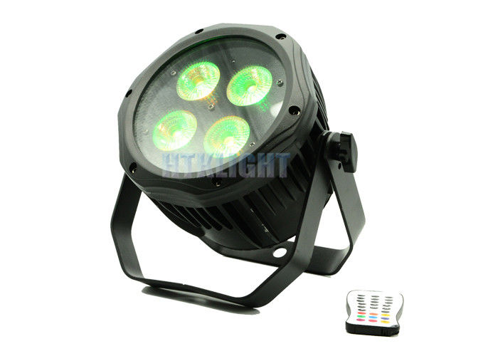 4 * 18W RGBWA + UV 6 in1 Battery Powered DMX Lights / Led Par Light